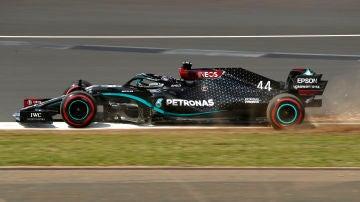 Lewis Hamilton, durante la clasificación del GP de Gran Bretaña
