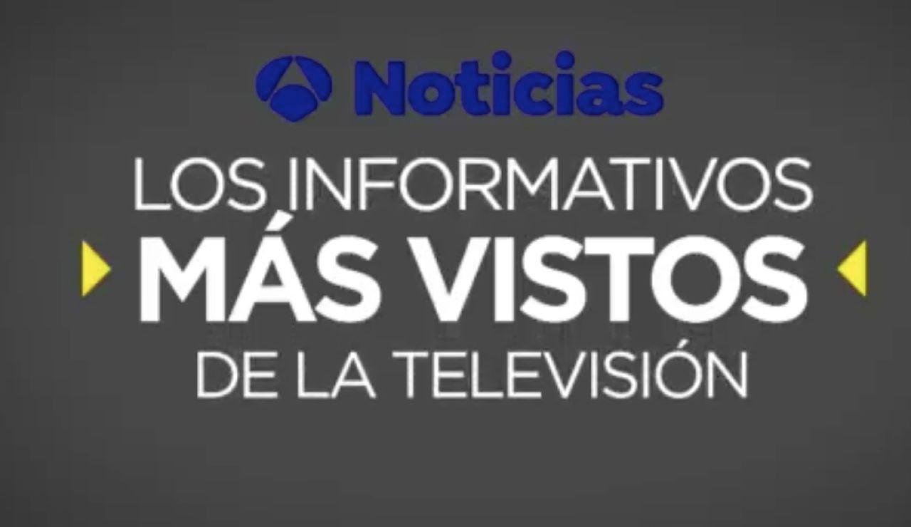 Antena 3 Noticias, los informativos líderes por séptimo mes consecutivo