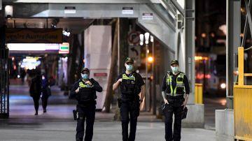 Policia en Melbourne, Australia