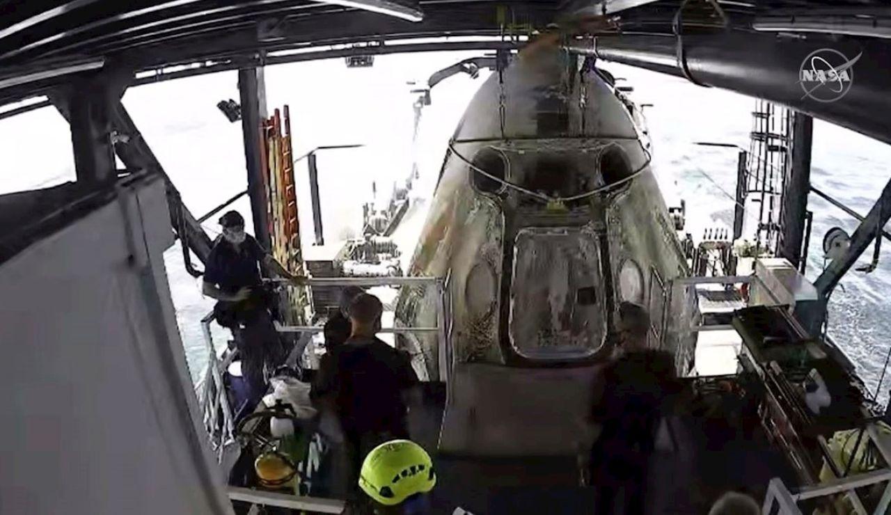 Aterrizaje de la nave del Space x