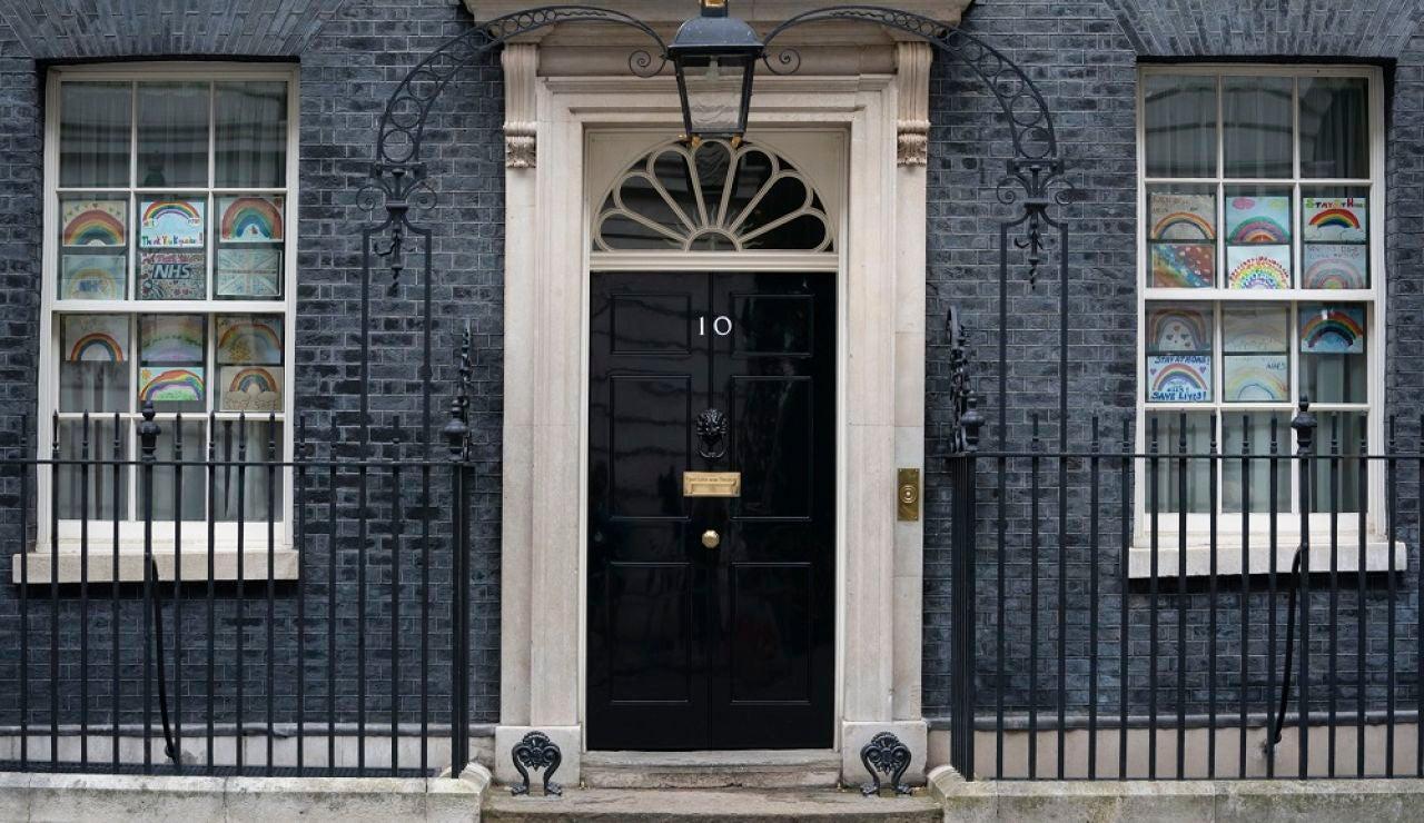 Entrada principal del 10 de Downing Street, residencia del primer ministro británico, Boris Johnson