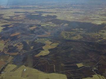 Controlado el incendio de El Casar, que ha arrasado más de mil hectáreas entre Madrid y Guadalajara