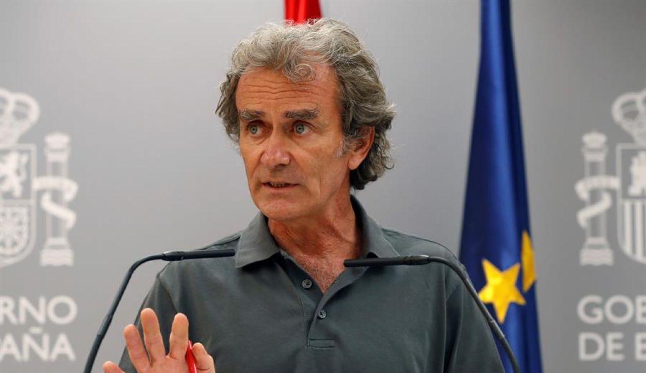 Fernando Simón durante la rueda de prensa este lunes en Madrid.