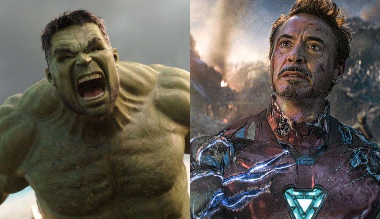 Mark Ruffalo y Robert Downey Jr. como Hulk y Iron Man
