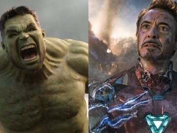 Mark Ruffalo y Robert Downey Jr. como Hulk y Iron Man