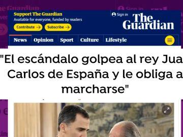 Prensa Internacional sobre la marcha del Rey Juan Carlos