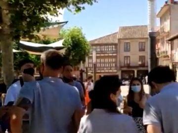 Polémica por la actuación de una charanga en Herrera de Pisuerga sin mascarilla y sin distancia social contra el coronavirus