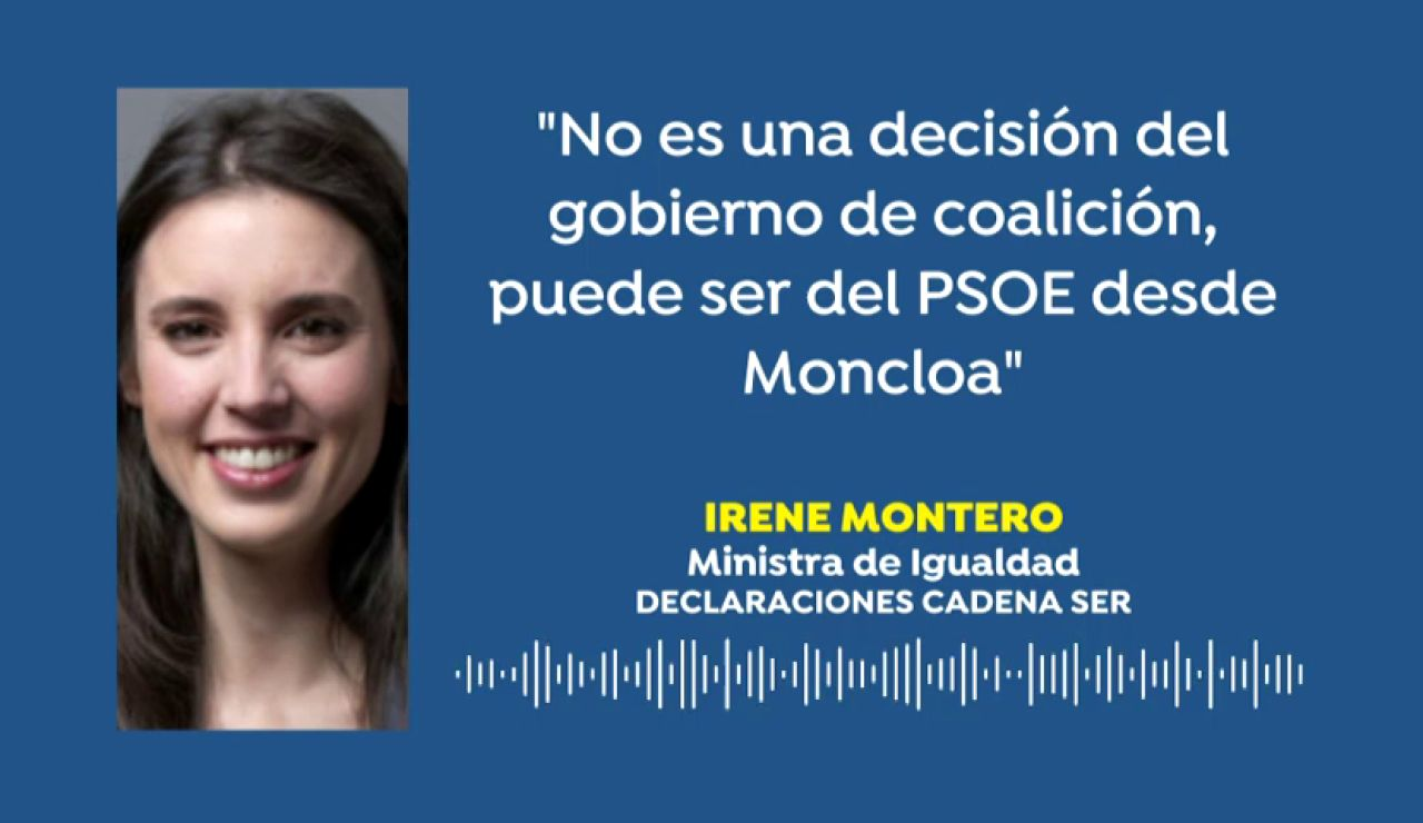 """Irene Montero dice que Podemos no conocía la decisión del rey Juan Carlos: """"Puede ser que haya sido el PSOE desde Moncloa"""""""