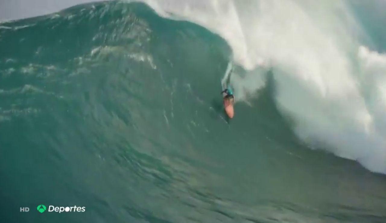 Eli Olson y Paige Alms, así surfearon los 'reyes del surf' las olas más grandes del mundo