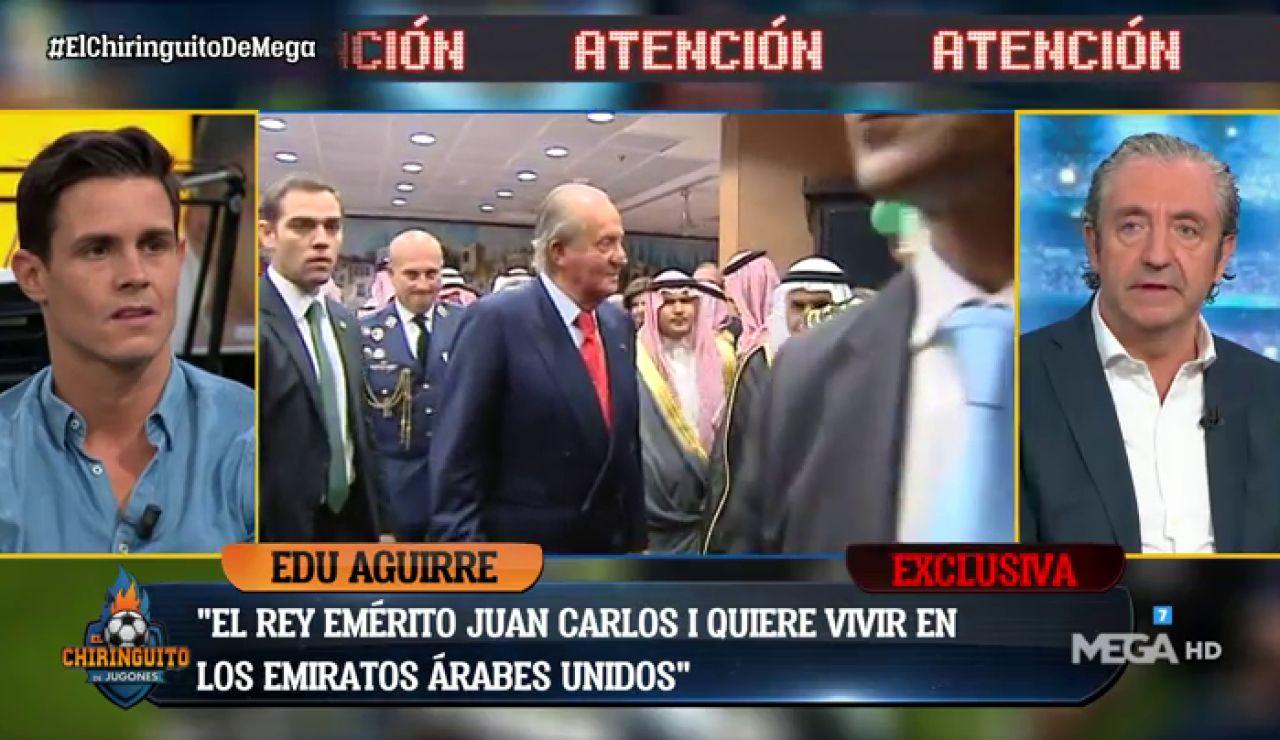 """EDU AGUIRRE: """"La idea de Juan Carlos I es vivir en los Emiratos Árabes"""""""