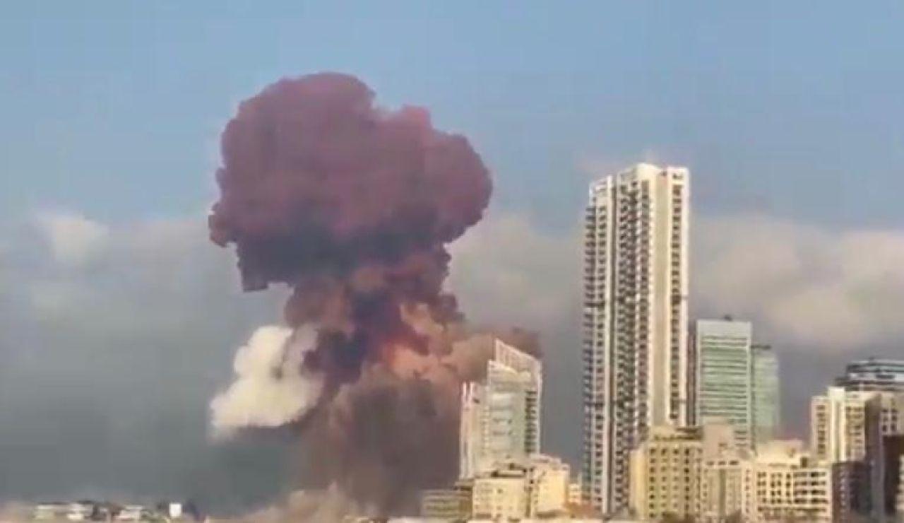 El hongo de la explosión de Beirut fue confundido con una bomba nuclear