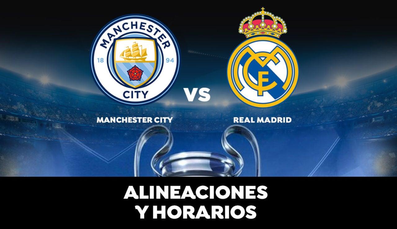 Manchester City - Real Madrid: Alineación del Real Madrid y dónde ver el partido de hoy de Champions League en directo