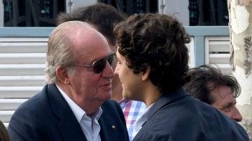El rey Juan Carlos y su nieto Froilán