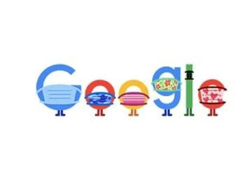Google de doodle que anima a usar la mascarilla