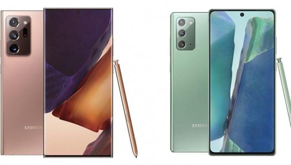 Galaxy Note 20 (d) y Note 20 Ultra (i)