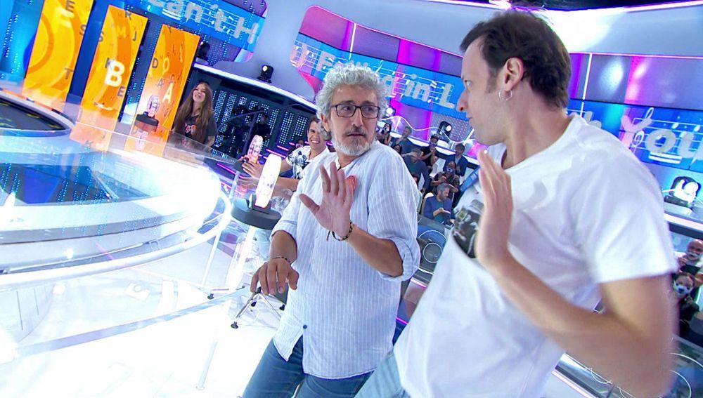 """El hilarante duelo entre David Fernández y Edu Soto repleto de trampas: """"¡Eso no lo puedes dar por válido!"""""""