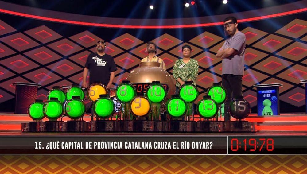 Una palabra catalana provoca las risas entre 'Los dispersos' en la bomba final