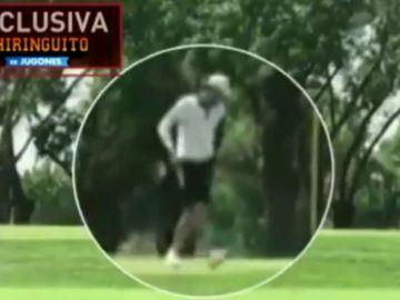 Gareth Bale, 'cazado' jugando a golf tras negarse a viajar a Mánchester con el Real Madrid