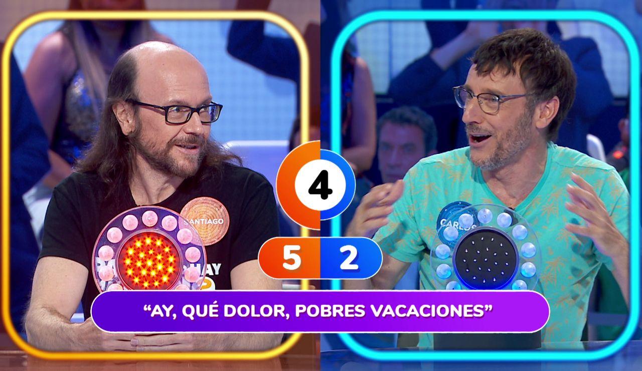 """Santiago Segura deja """"perplejo"""" a Carlos Chamarro con su rapidez en 'La Pista'"""
