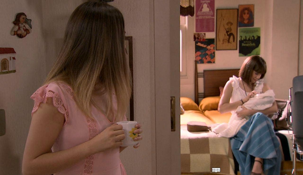 Luisita se da cuenta que Isabel se arrepiente por haber abandonado a su hijo