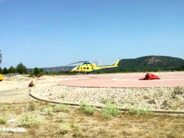 Roban un helicóptero de extinción de incendios en Cuenca