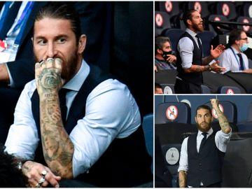 Así vivió Sergio Ramos la eliminación del Real Madrid, un entrenador más en la grada del Etihad
