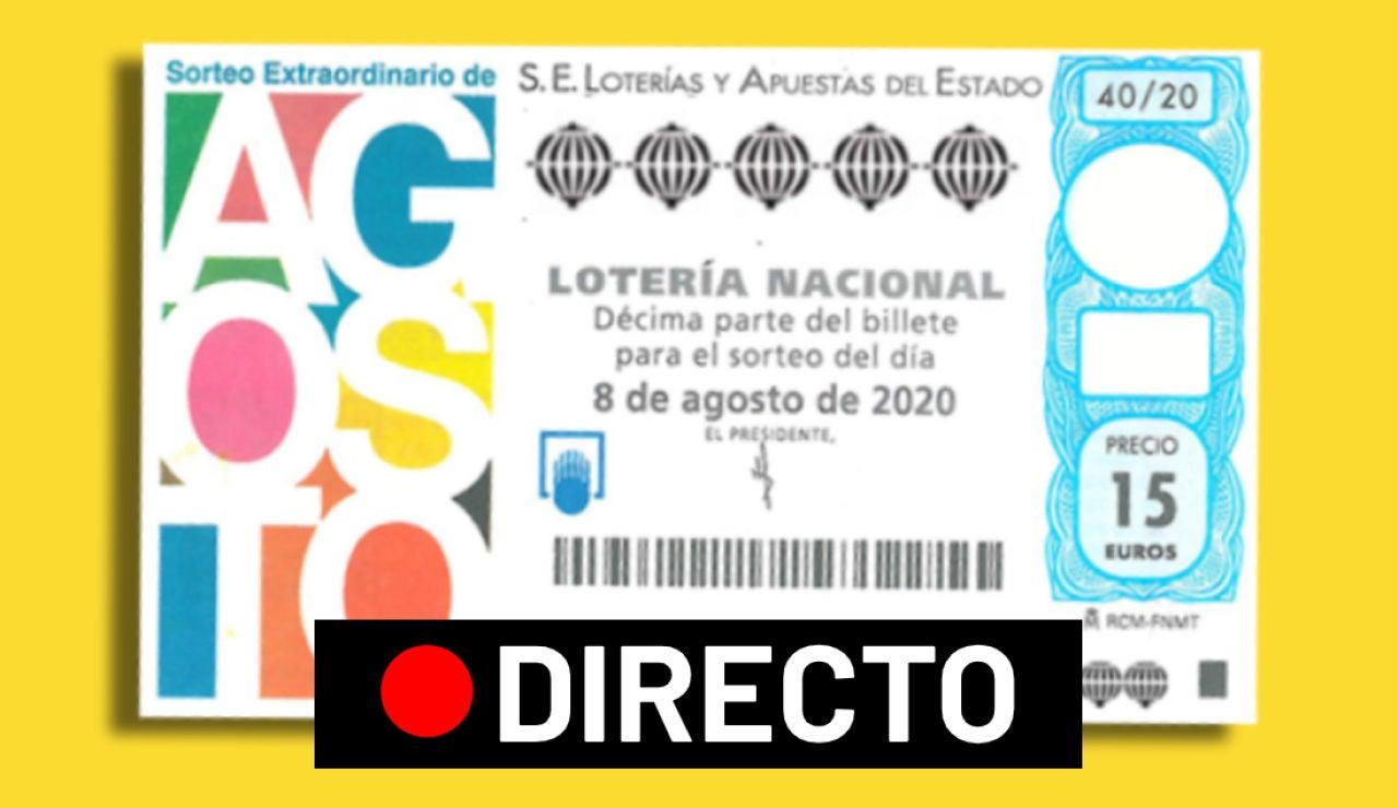 Sorteo Extraordinario de Agosto 2020 de la Lotería Nacional