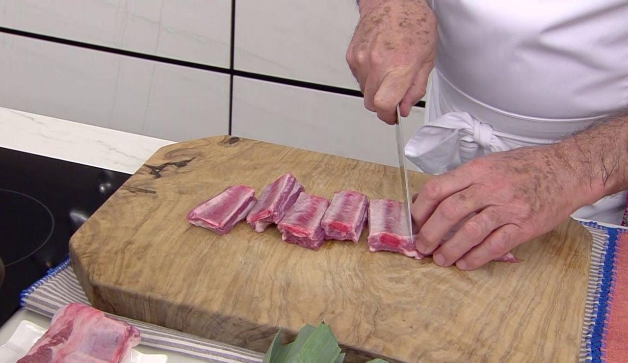 El tiempo cocción exacto que Karlos Arguiñano recomienda para que la costilla de cerdo quede tierna