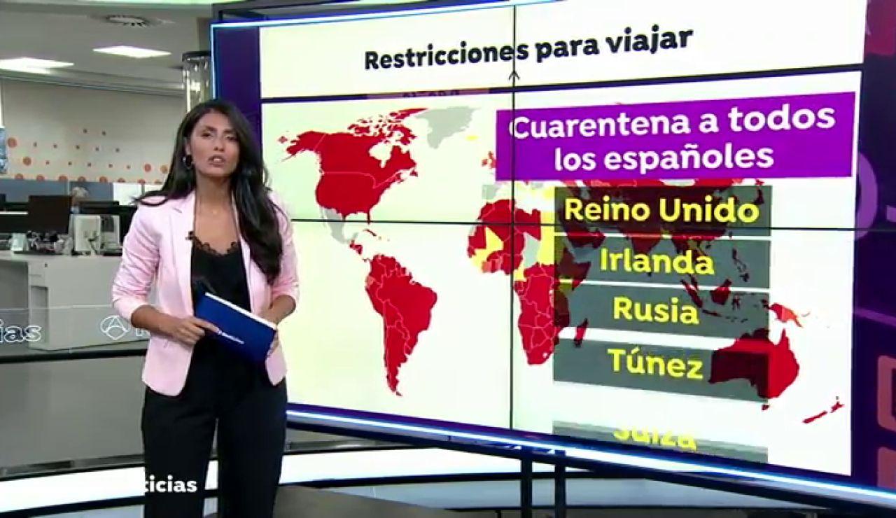 Lista de países que imponen algún tipo de restricción o cuarentena a los viajeros procedentes de España por el coronavirus