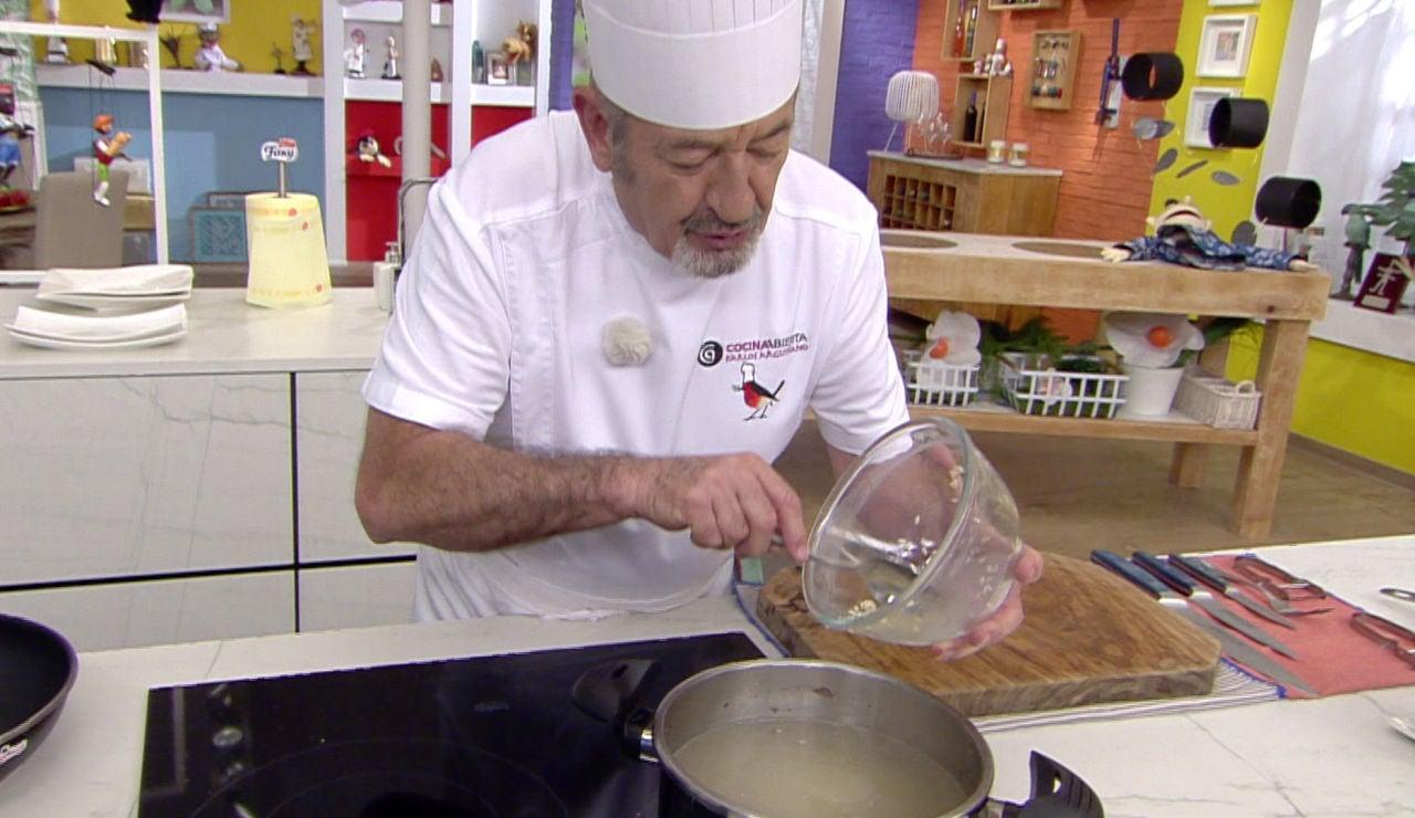 El truco de Karlos Arguiñano para que el arroz integral tarde lo mismo en cocerse que el arroz procesado