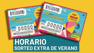 Horario y premios del Sorteo Extra de Verano de la ONCE 2020