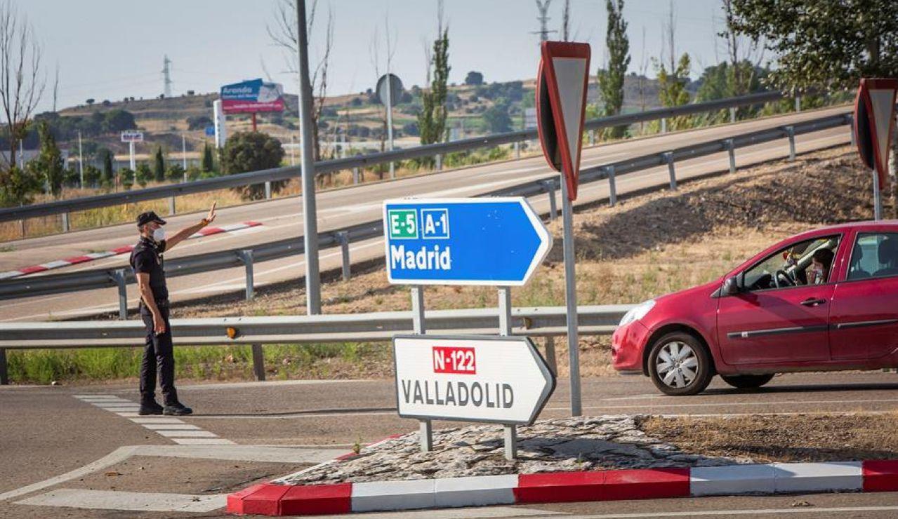 La Policía realiza controles a la salida de Aranda del Duero
