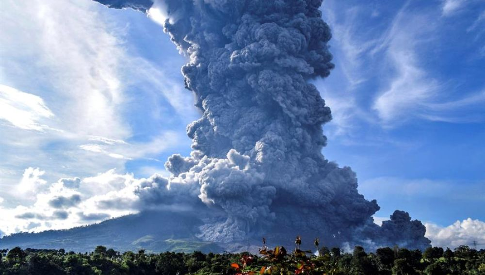 Volcán indonesio Sinabung