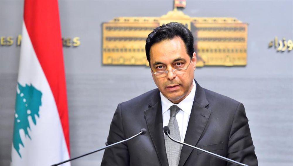 El primer ministro libanés, Hassan Diab