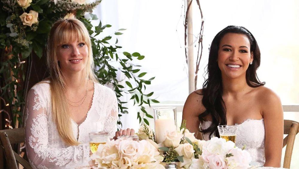 Heather Morris y Naya Rivera en 'Glee'
