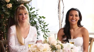 Heather Morris y Naya Rivera en 'Glee'
