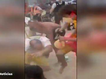 Multitudinaria pelea en Bélgica porque algunos bañistas no usaban la mascarilla contra el coronavirus