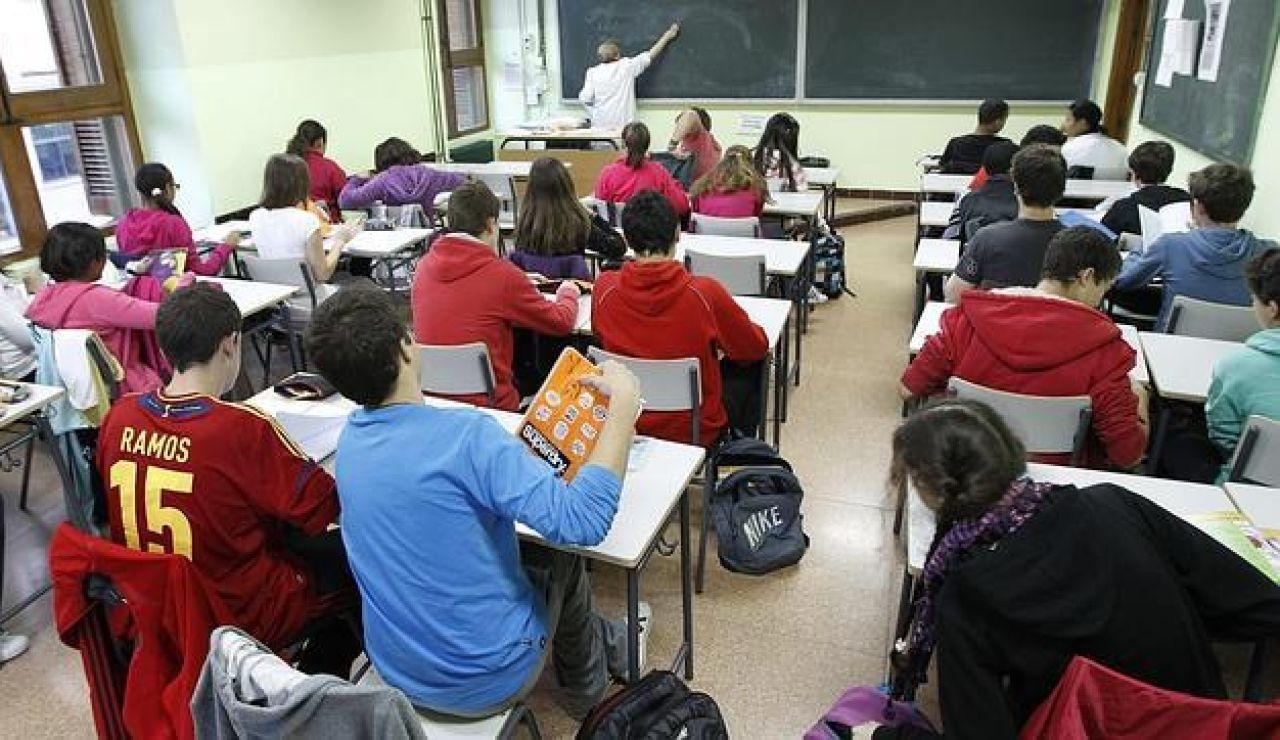 Alumnos en un instituto el curso pasado