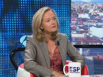 """Nadia Calviño: """"Nuestro objetivo es que todo el mundo cobre los ERTE"""""""