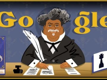 Google dedica su doodle al escritor Alejandro Dumas y a 'El Conde de Montecristo'