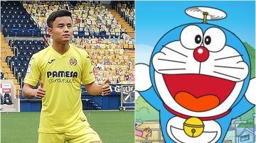 Cantar 'Doraemon' en japonés, la novatada de bienvenida del Villarreal a Kubo