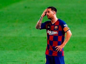 Messi, con el Barça