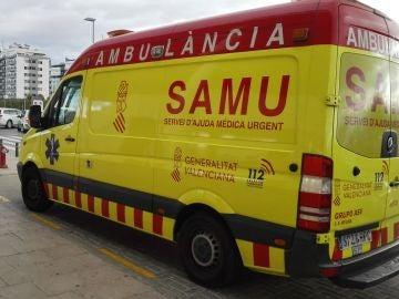 Ambulancia del SAMU.