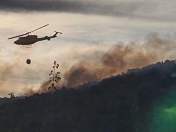 Imagenes del incendio en Mula