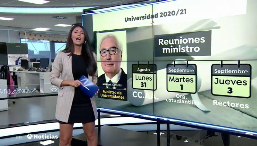 ¿Y qué ocurrirá en las universidades este curso? Manuel Castells dará a conocer esta semana las medidas contra el coronavirus