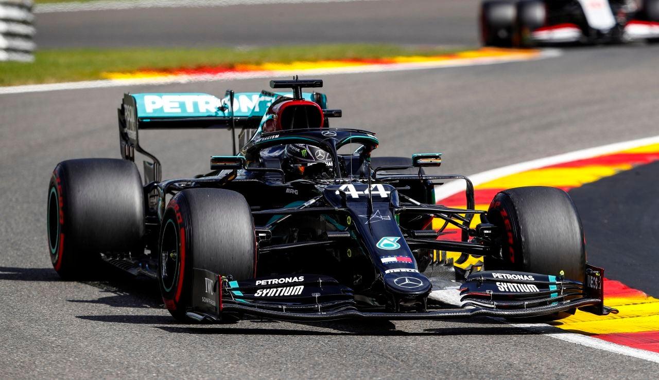 Lewis Hamilton, en el GP de Bélgica