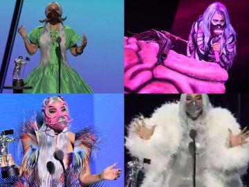 Las llamativas mascarillas de Lady Gaga durante los MTV Awards