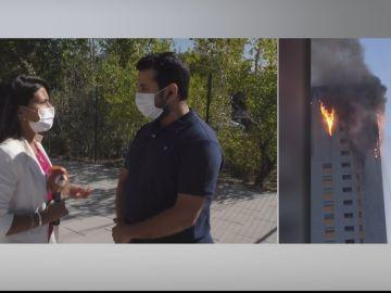"""Un vecino del incendio de una torre en Madrid: """"No sonaron las alarmas, lo he perdido todo"""""""