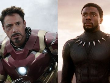 Robert Downey Jr. y Chadwick Boseman como Iron Man y Black Panther