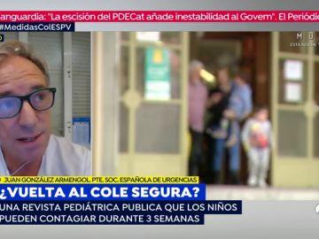 """Juan González Armengol, sobre la vuelta al cole: """"Puede haber niños supercontagiadores, pero eso no nos tiene que condicionar"""""""
